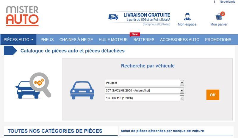 pieces de voiture en ligne